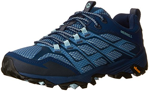 Merrell Womens/Ladies Moab FST Breathable Leather Walking Shoes Navy