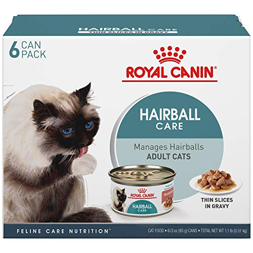 Royal Canin 175014 Feline Care Nutrition Hairball Thin Slices In Gravy Canned Cat Food (12 Pack), 3 Oz For Sale