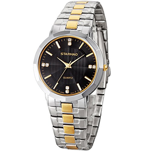 Stylish Woman Man Quartz Analog Wrist Watch Strip Dial Blue Band - 7