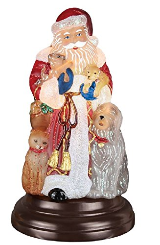 (Old World Christmas Night Light Figurine - Santa's Furry)