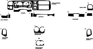Rvinyl Rdash Dash Kit Decal Trim for Dodge Dakota 1997-2000 - Diamond Plate