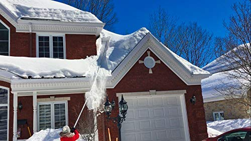 SNOWPEELER ROOF RAKE! Easy-To-Use Rooftop Snow Removal Tool with 20-FT Handle, 9-FT Snow Slide and 18-IN Cutting Blade. Aluminum and Stainless-Steel Construction. Less Time and Effort than Snow Rakes! by SNOWPEELER (Image #6)