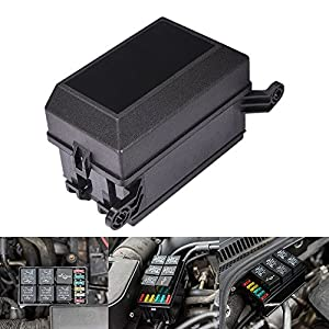 MICTUNING 12-Slot Relay Box,6 Relays,6 ATC/ATO Fuses Holder Block with 41pcs Metallic Pins for Automotive and Marine Engine Bay