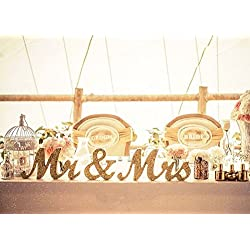 Gold Glitter MR & MRS Wedding Anniversary Centerpiece Bride Table Decoration Set