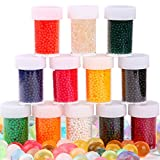 AINOLWAY Water Beads 12 Colors Bottled, Growing Jelly Crystal Balls for Kids Sensory Toys and Vase Filler ( 20,000 Pcs )