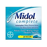 Product review for Midol Complete, Menstrual Period Symptoms Relief Including Premenstrual Cramps, Pain, Headache, and Bloating, Gelcaps, 24 Count