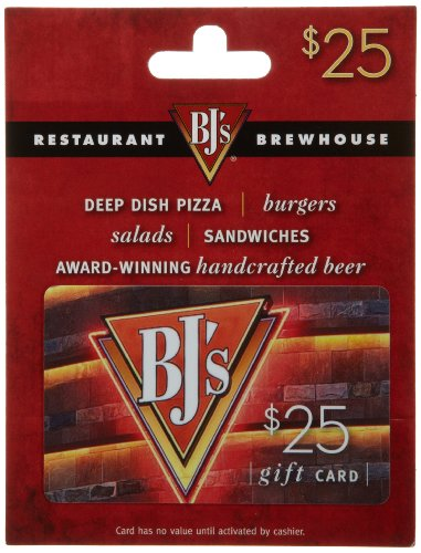 Pizza Gift Card - BJ's Restaurant Gift Card $25