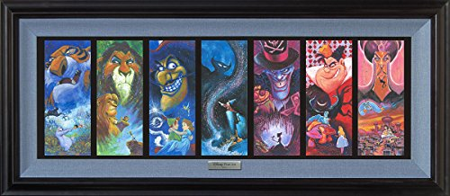 Disney Fine Art The Villainous Seven by Stephen Fishwick Silver Series Framed Giclee]()
