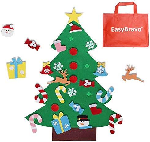 EasyBravo El árbol de Navidad del Fieltro de los 3.6FT DIY fijó + los Ornamentos Desmontables 26pcs, Regalos Colgantes de ...