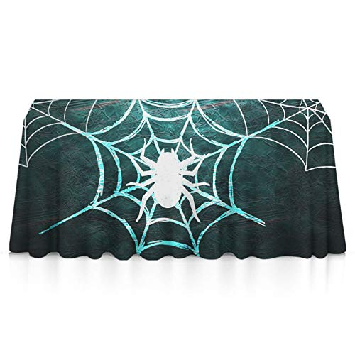 GLORY ART Rectangle Tablecloth - Halloween Spider Web - Waterproof Washable Polyester Fabric Table Cloth Cover for 8 Foot Table for Dinner/Decor/Banquet/Restaurant/Indoor/Outdoor((60