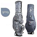 PGM Unisex Retractable Golf Club Carry Bag Wheeled Golf Travel Bag Golf Cart Bag