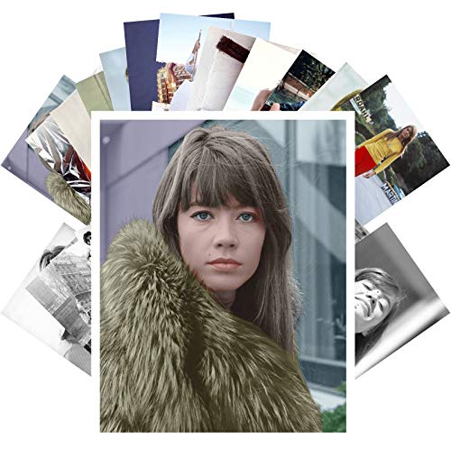 Postcard Set 24 cards FRANCOISE HARDY Posters Photos Vintage Magazine  covers French Pop Music