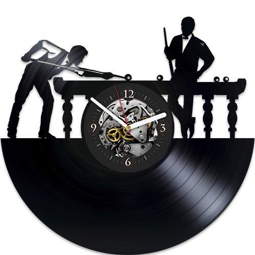 - Billiards Vinyl Wall Clock, Best Gift For Boy, New Year Gift, Wall Clock Vintage, Billiards Xmas Gift For Man, Birthday Gift For Dad, Wall Clock Modern, Wall Clock Large, Billiards Clock