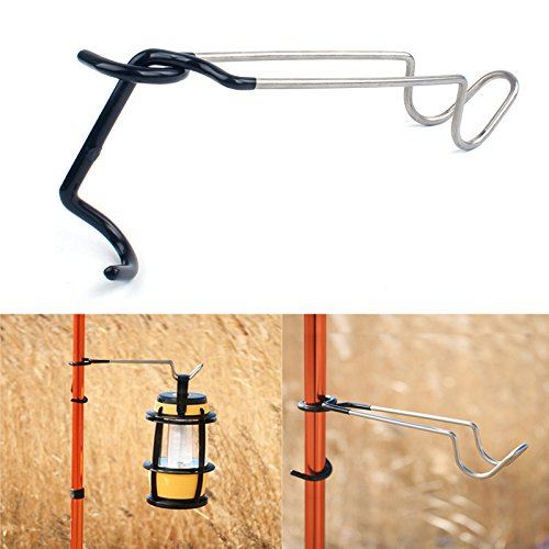 Outdoor Lantern - Outdoor Camp Lantern Hook 304 Stainless Steel Light Clamp Holder by Ochoos Camping