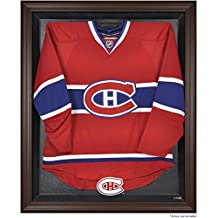 Montreal Canadiens Brown Framed Logo Jersey Display Case - Fanatics Authentic Certified - Hockey Jersey Logo Display Cases