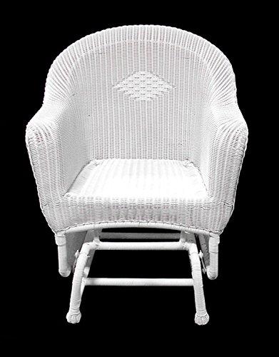 Resin Wicker Single (LB International Resin Wicker Single Glider Patio Chair, 36