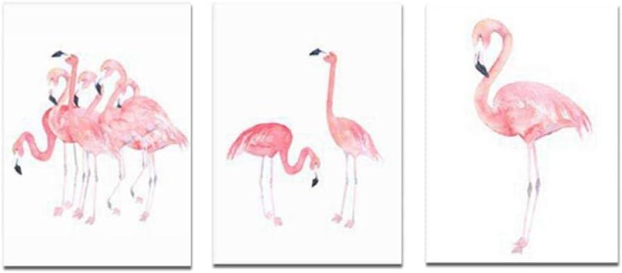 lienzo de 50 x 70 x 3 unidades sin marco Cuadro decorativo de flamenco rosa para pasillo jard/ín decoraci/ón de sal/ón dormitorio