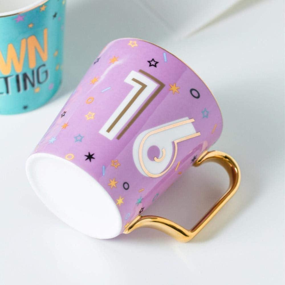 Mug Coffee Ceramic Gold Lucky Numbers Age 16 18 30 Animal Flamingo Cat Ceramic Coffee Mug Breakfast Milk Water Cup Couple Creative Birthday Gifts 723 Sweet 16 Y Amazon Co Uk Kitchen Home