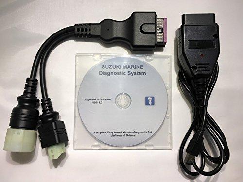 Capital_auto Suzuki Outboard Boat Marine Diagnostic USB Cable Kit SDS ()