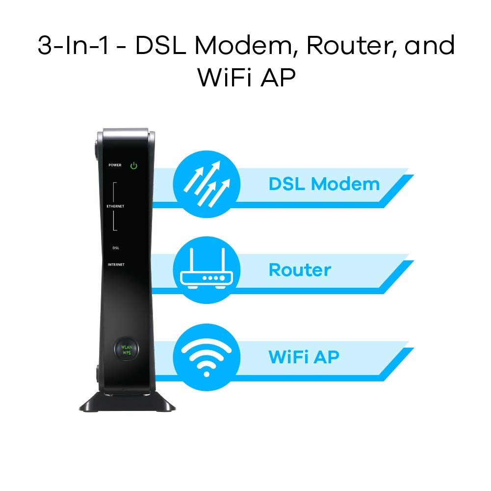 ZyXEL P660HN-51R Adsl/ Adsl2+ Wi-Fi Router with Built-in Modem Compatible with CenturyLink, Frontier, AT&T and Other Broadband Providers [P660HN-51] by ZyXEL