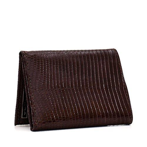 (Implora Genuine Monitor Lizard Trifold Wallet Cognac Brown)