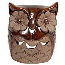 Hosley's Ceramic Owl Oil Warmer. Ideal for spa and aromatherapy. Use with HOSLEY brand wax melts / cubes, essential oils and fragrance oils.