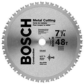 Bosch cb748st 7 14 in 48 tooth ferrous metal cutting circular saw bosch cb748st 7 14 in 48 tooth ferrous metal cutting circular saw blade circular saw blades amazon keyboard keysfo Image collections