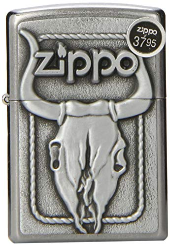 (Zippo Skull Lighters (Bull Skull Windproof))