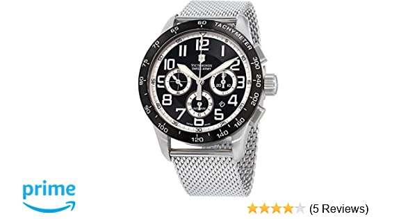 Amazon.com: Victorinox Swiss Army Mens 241447.1 AirBoss Mach 6 Mechanical Black Chronograph Dial Watch: Watches