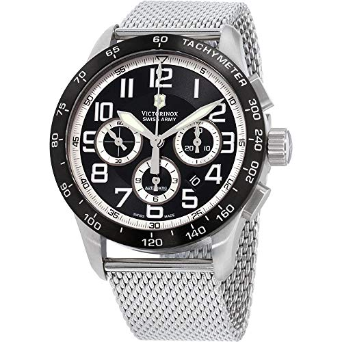 Victorinox AirBoss Mach 6 Mechanical Black Chronograph Dial Men's Watch 241447.1
