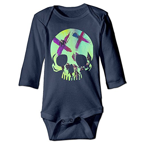 [Boxer98 Boy's & Girl's Kicked In The Teeth Long Sleeve Romper Bodysuit Outfits] (Harley Quinn Smith Costume)