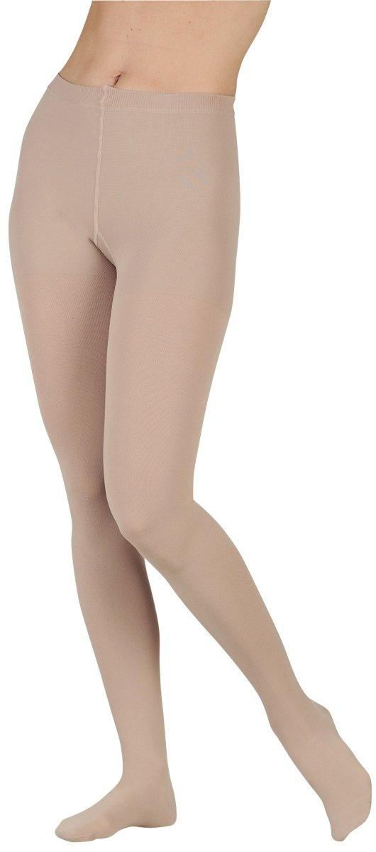Juzo 2002ATFFPE53 I Soft 30-40 mmHg Full Toe Pantyhose Standard Compression Stockings In Petite - Chocolate44; I - Extra Small