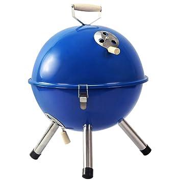 Lovely Estufa De Barbacoa Portátil Al Aire Libre Redonda del BBQ Mini, Estante del BBQ (Color : Blue): Amazon.es: Hogar