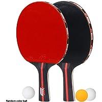 CoWalkers Juego de Palas de Ping Pong - Incluye 2 paletas/Raquetas de Alto Rendimiento, 3 Bolas profesionale(Bola de Color al Azar)