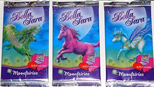 3 Pack Bundle:Bella Sara Horses Trading Card Game Series 12 Moonfairies Booster Packs