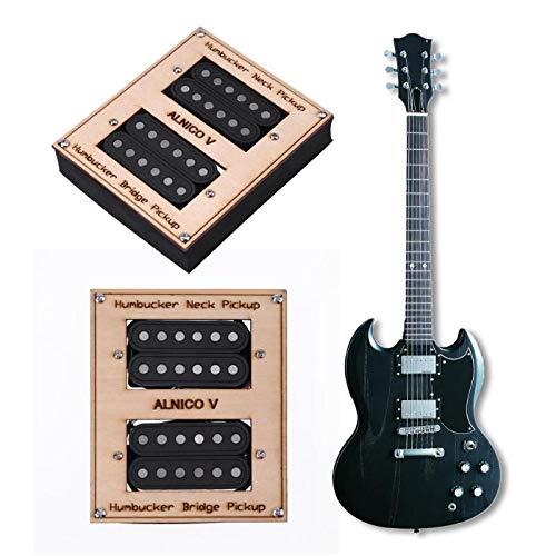 Car accessories - 2pcs/box Electric Guitar Pickups Humbucker Double Coil Pickup Bridge Neck Set Guitar Parts Accessories Black