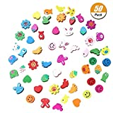 WarmShine 50 Pack Cute Wooden Push Pins Creative Pushpins Lovely Animal Push pins,Thumbtacks for School Home Office