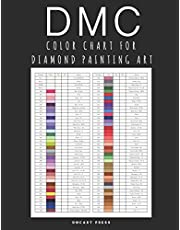 DMC Color Chart for Diamond Painting Art: Professional DMC Color Card Book 2021