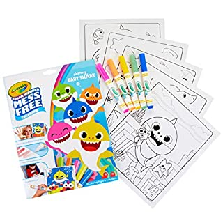 Crayola Baby Shark Wonder Pages,​ Mess Free Coloring Gift, Stocking Stuffers for Toddlers