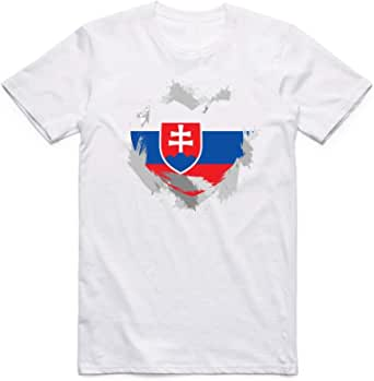 Slovakia Flag T-Shirt For Men