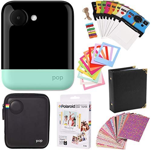 Polaroid POP 2.0 Instant Digital Camera (Green) Gift Bundle + Paper (10 Sheets) + Case + Photo Album + Frames + Stikcer Sets and More