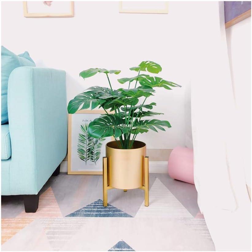YYH Nordic einfach und licht Boden stehend Wohnzimmer blumentopf Pflanze Rahmen grüne Blume Regal kreative Balkon Dekoration grünpflanze (Color : Gold)