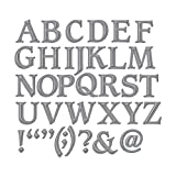 Spellbinders S6-009 Shapeabilities Font One-Uppercase Etched/Wafer Thin Dies