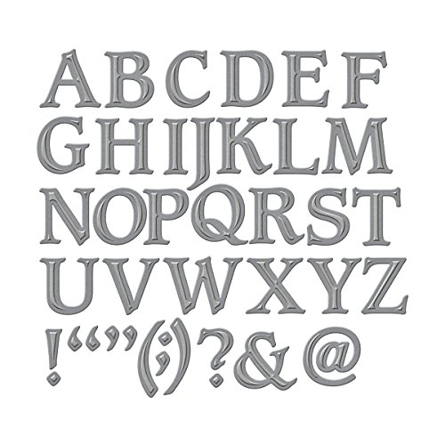 Spellbinders S6-009 Shapeabilities Font One-Uppercase Etched/Wafer Thin - Alphabet Dies Sizzix