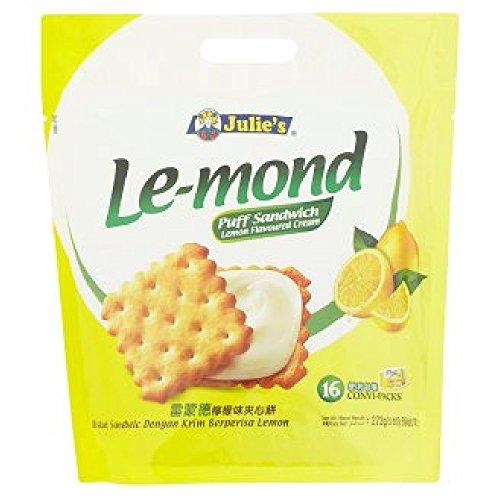 Julie's Cream Puff Sandwich 16 Convi-Packs (628MART) (Le-mond Lemon Flavoured) -