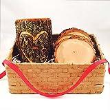 Personalized Sweetheart Wood Gift Basket