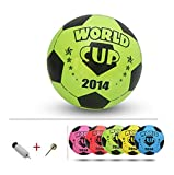 Inflatable Soccer Balls Pool Party Favor Soccer Ball for Kids Green,8.3''