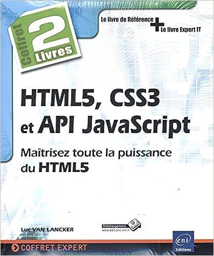 couverture du livre HTML5, CSS3 et API JavaScript - Coffret de 2 livres
