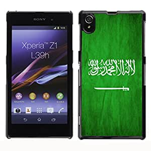 Shell-Star ( National Flag Series-Saudi Arabia ) Fundas Cover Cubre Hard Case Cover para SONY Xperia Z1 / L39H / C6902 / C6903 / C6906