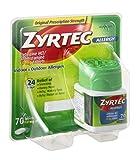 Zyrtec Cetirizine HCI/Antihistamine 10mg Allergy Tablets , 70 Count ( Pack Of 4 )